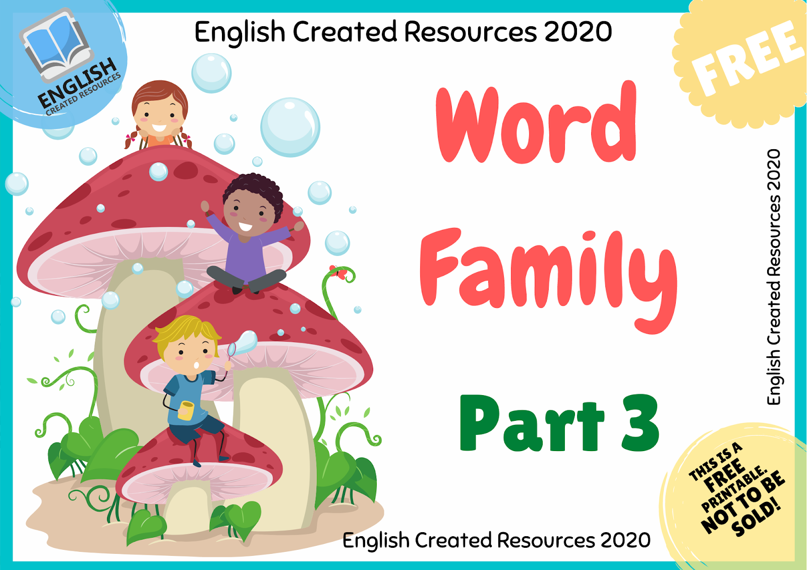 Word Family Activities Part 3