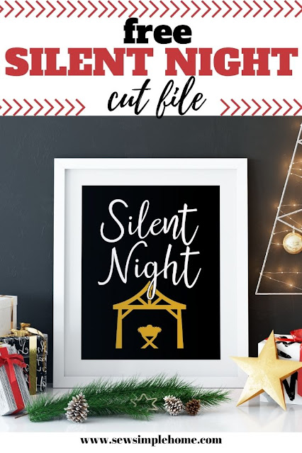 Create your own holiday projects with this free silent night svg.