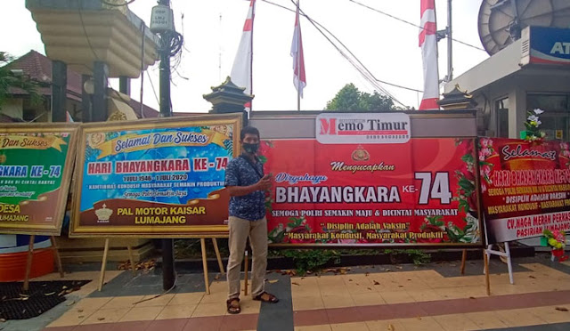 Ucapan Hari Bhayangkara di Polres Lumajang