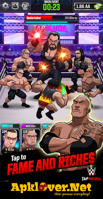 WWE Tap Mania MOD APK unlimited money