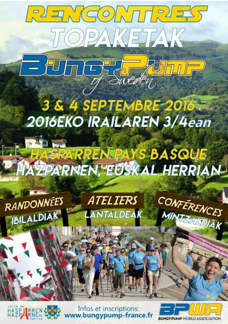 2nd édition des Rencontres de Bungy Pump France au Pays Basque, à Macaye près de Biarritz
