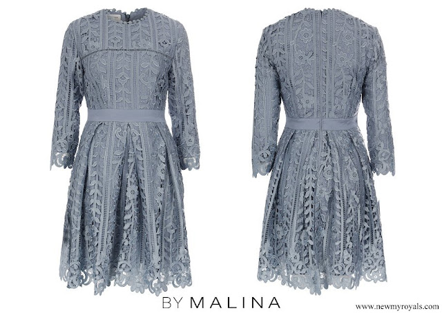 Crown Princess Victoria wore By Malina Ginger Lace Dress
