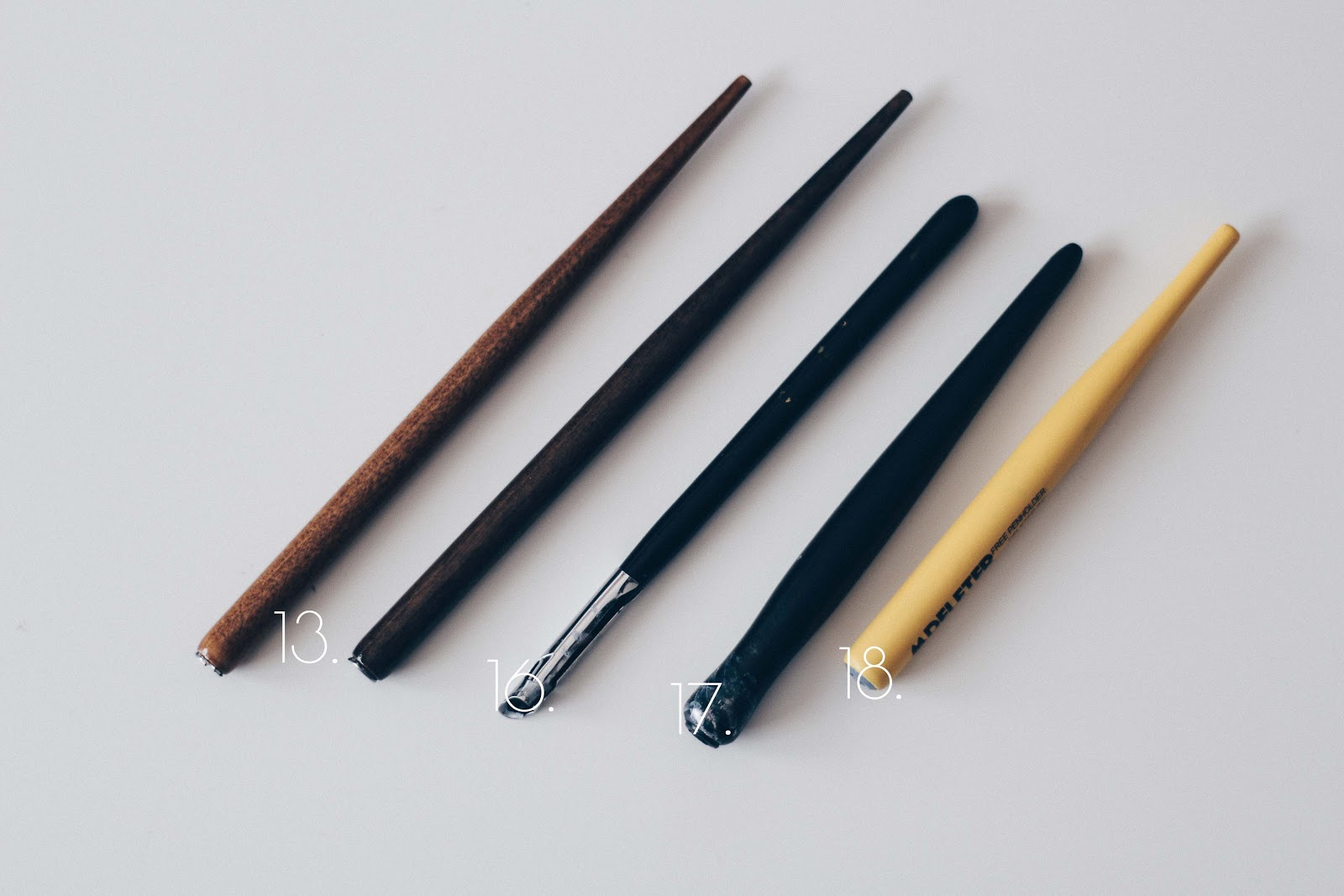 brown and black studs/penholders
