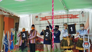 KPU Kabupaten Bima Gelar Pengundian Nomor Urut Paslon