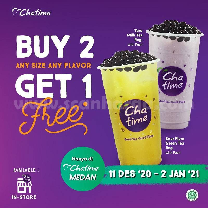 Chatime Promo – Buy 2 Any Size Any Flavor Get 1 Free