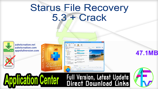 Starus File Recovery 5.3 + Crack