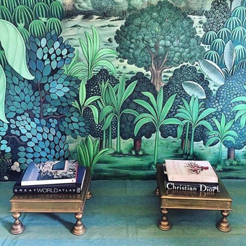 Greenery Pantone Colour of the Year 15-0343 Interior Design Ellaborate Wallpaper
