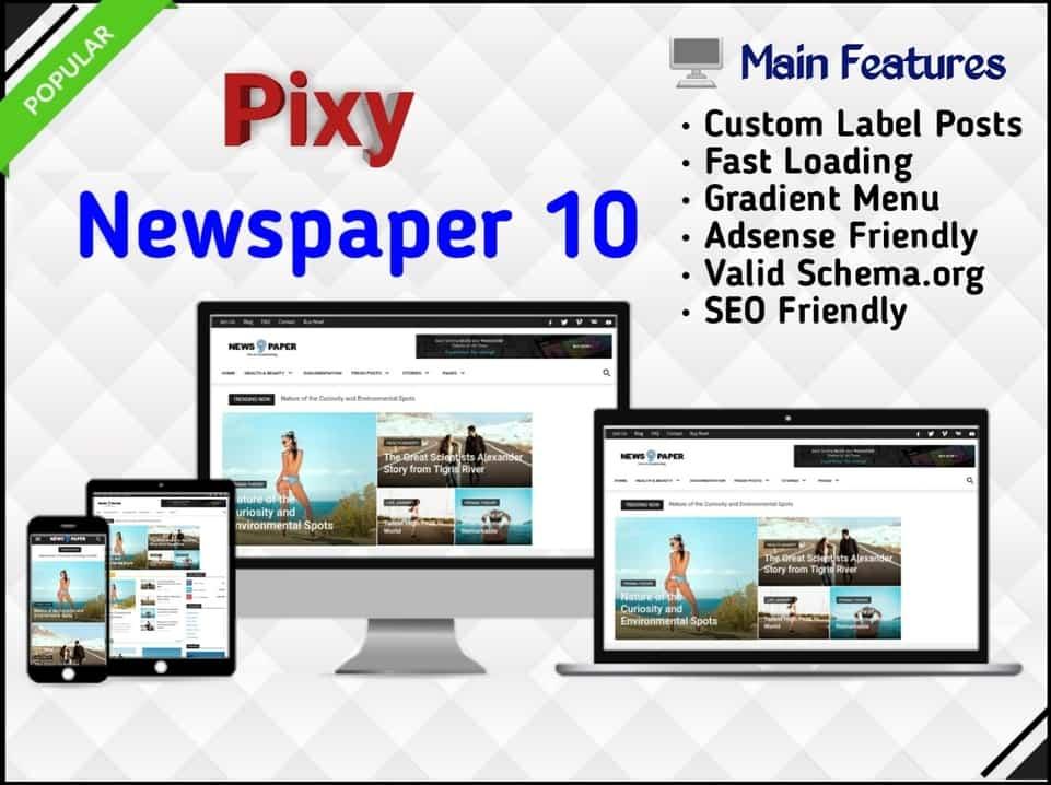 Pixy Newspaper 10 Template