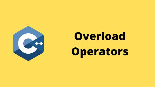 HackerRank Overload Operators solution in c++ programming