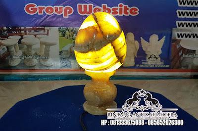 Kap Lampu Batu Onyx | Kerajinan Batu Onyx Tulungagung