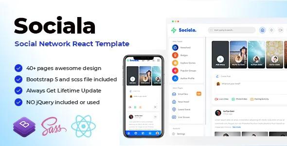 Best Social Network App React Template