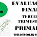 Evaluación Tercer Trimestre 5° Primaria Ciclo Escolar 2019-2020.