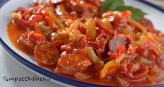 tumis sosis saus merah