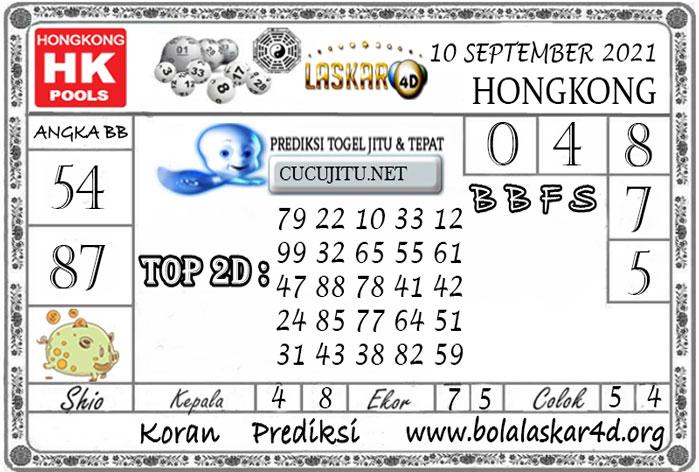 Prediksi Togel HONGKONG POOLS LASKAR4D 10 SEPTEMBER 2021