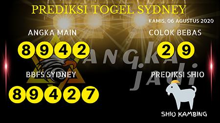 Prediksi Angka Jitu Sydney Kamis 06 Agustus 2020