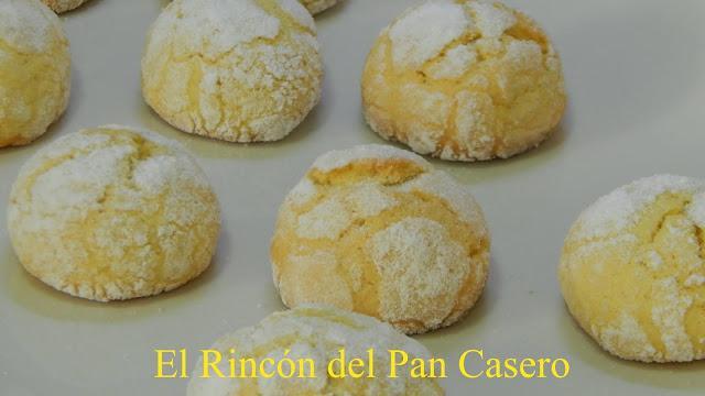 Receta de galletas caseras de limón craqueadas y muy crujientes