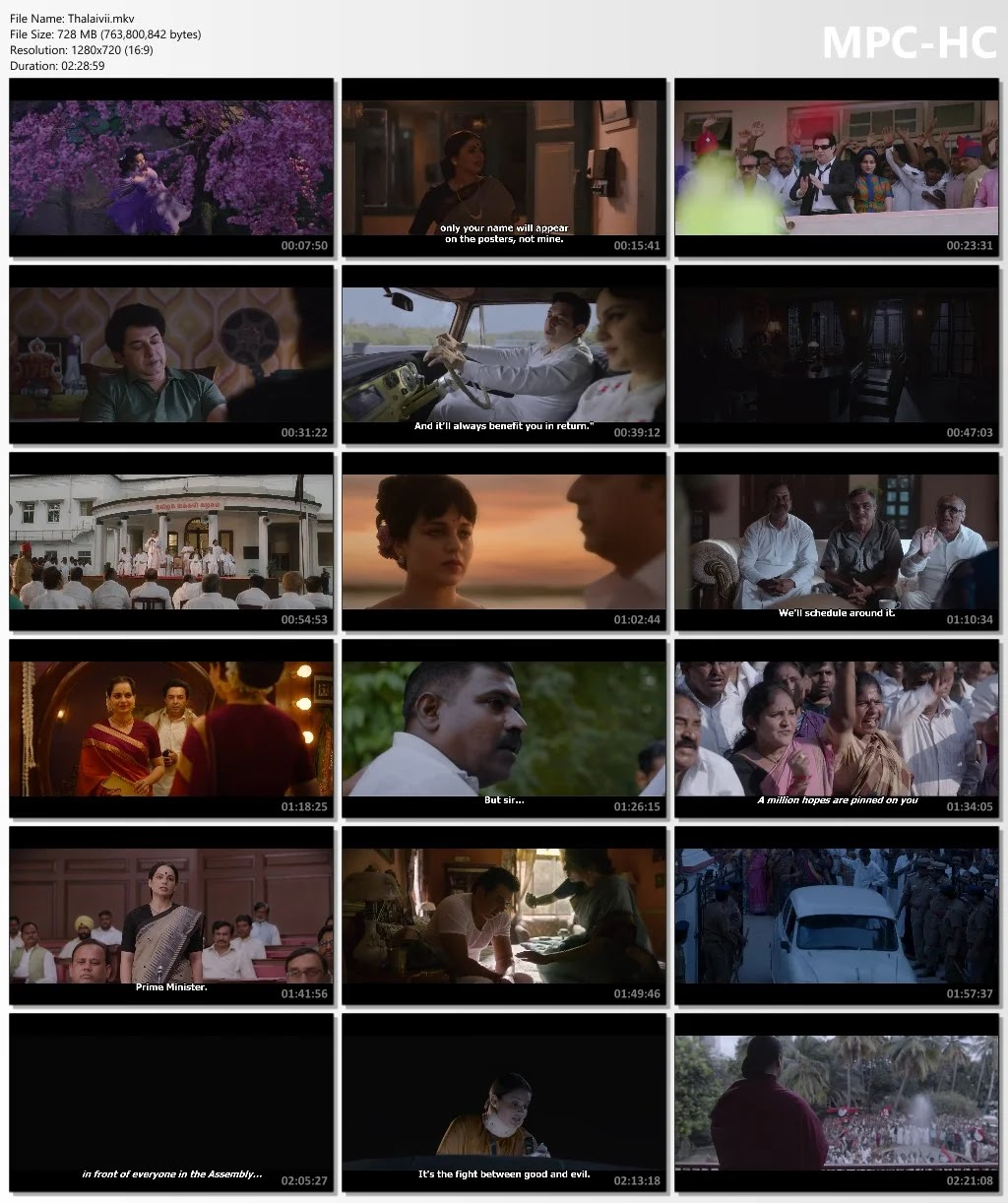 Thalaivi Full Movie in Hindi 480p