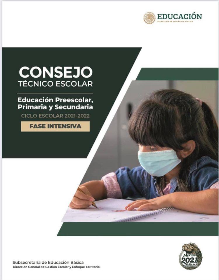 Consejos Técnico Escolar Fase Intensiva ciclo escolar 2021-2022
