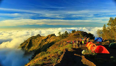Puncak Gunung Rinjani, NTB