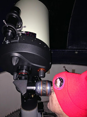 "Observing with the 11"" Telescope."