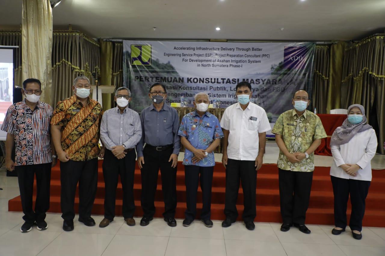 Konsultasi Publik, Lokakarya dan FGD Pengembangan Sistem Irigasi Asahan Sumatera Utara, Indonesia Phase -1 Digelar