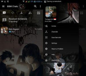 BBM MOD Tema Dead Note v3.3.0.16 APK Versi Terbaru