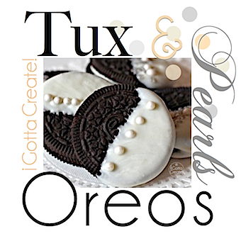 Oscar Tux & Pearls Oreos for your Academy Awards watch party! | This and more at http://igottacreate.blogspot.com