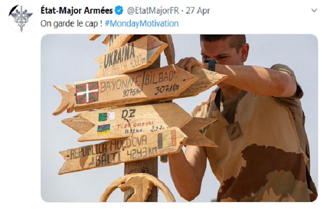 العلم الامازيغي والفرنسي والجزائري drapeau amazigh france alger