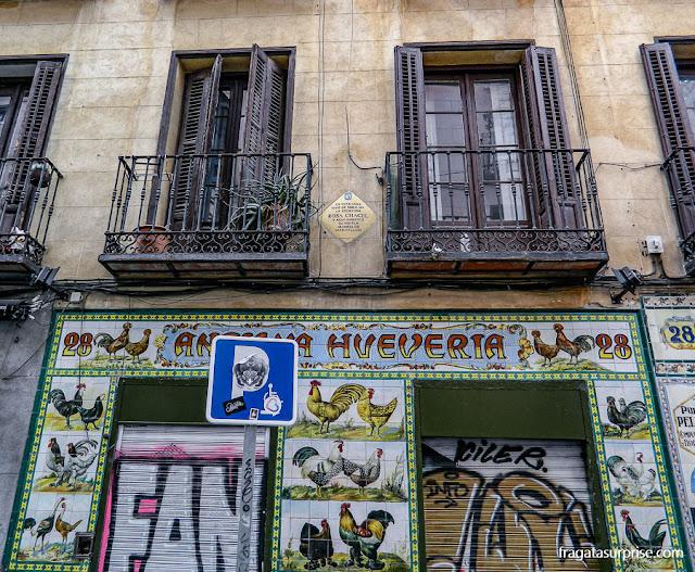 Grafites no bairro de Malasaña, Madri