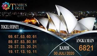 Prediksi Angka Sidney Kamis 30 Juli 2020