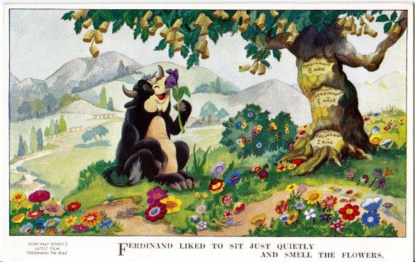 Ferdinand the Bull Disney Postcard