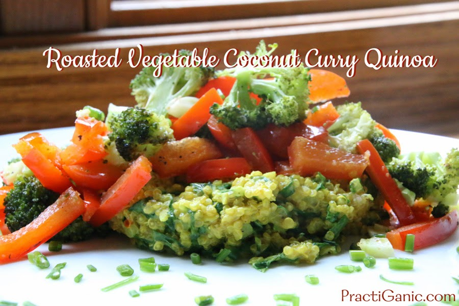 Roasted Vegetable Coconut Curry Quinoa