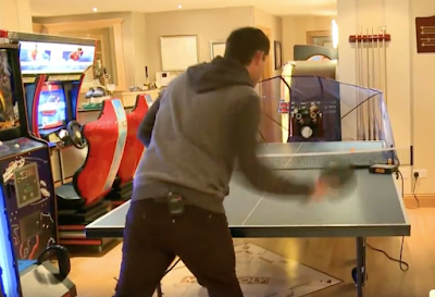 A video tour of Padraig Harrington's man cave.