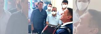 Vídeo: paraibano Amazan canta para recepcionar presidente Jair Bolsonaro no Rio Grande do Norte