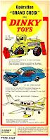 Publicités Dinky Toys de l'année 1968