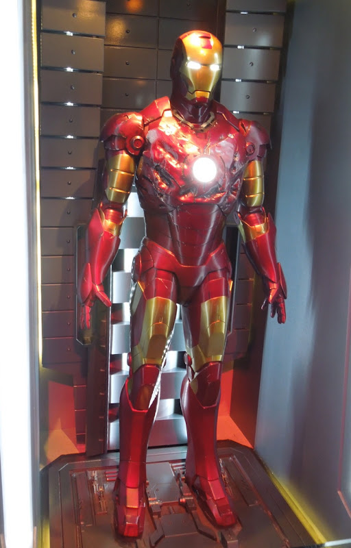 Battle damaged Iron Man mark III suit