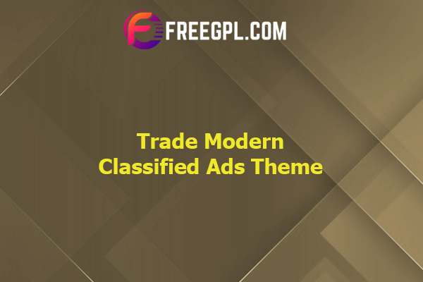 Trade – Modern Classified Ads WordPress Theme Nulled Download Free
