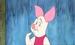 Gambar Piglet Sedih dalam Kartun Winnie The Pooh