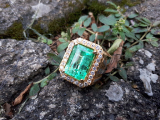 Cincin Batu Zamrud Columbia Ikatan Emas Berlian Kwalitas Super Bersertifikat ZR006