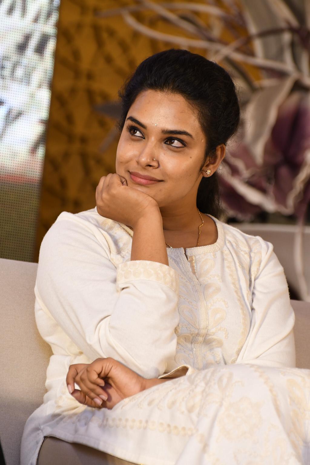 Tv Actress Hari Teja Hot Smiling Photos In White Dress