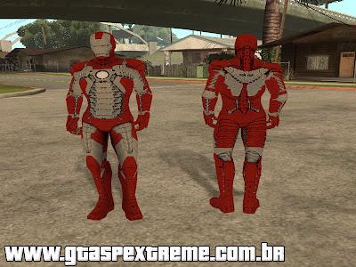 Skin Homem de Ferro 3 Mark 5 para GTA San Andreas