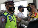Kapolres  Nias Pimpin Apel Gelar Pasukan Operasi Keselamatan Toba Tahun 2021