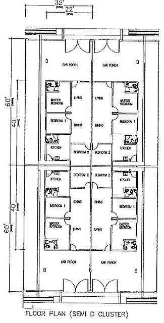 Plan Rumah (Semi D Kluster)