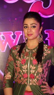 Charmi Kaur Spooted at Apsara Awards 2016 in Green Kurti and Pink Lehenga