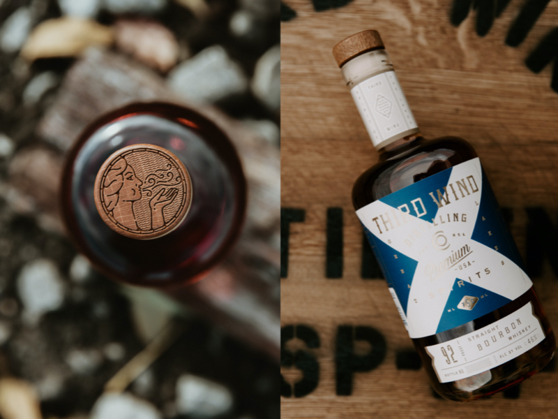 Third Wind Distilling Co. Whiskey & Sanitizer
