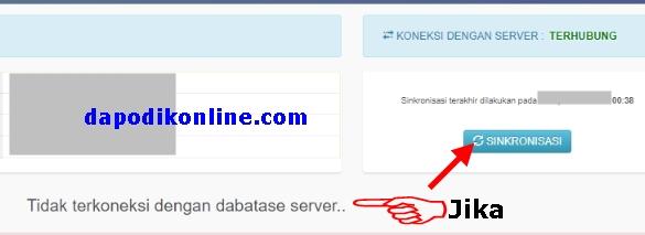 Tidak terkoneksi dengan database server dapodik