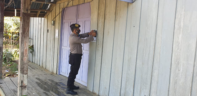 Brigpol Jurie sosialisasikan Maklumat Kapolda Kalteng di Desa Suja