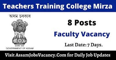 Teachers Training College Mirza Recruitment