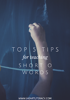 The Top Five Tips for Teaching Short O Words #phonics #teaching #kindergarten #1stgrade #2ndgrade #CVC #shorto