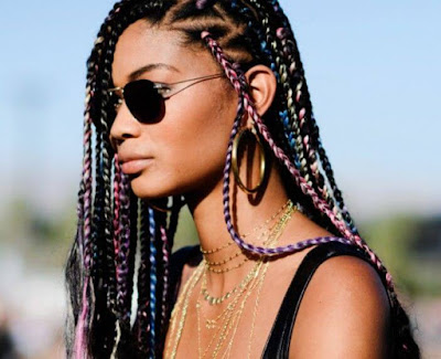 Triangle box braids hairstyles have been a stylish and trendy protective hairstyle for bl 37 Unique Triangle Box Braids Hairstyles 2019 Funky For Black Women